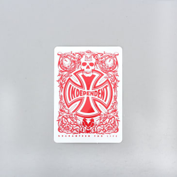 Independent Hold Em Sticker Red