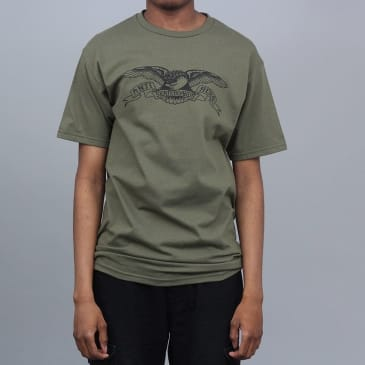 Anti Hero Basic Eagle T-Shirt Military Green / Black
