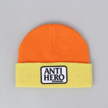 Anti Hero Reserve Patch Cuff Beanie Yellow / Orange
