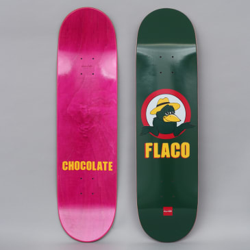 Chocolate 8.375 Stevie Perez Flacrow One Off Skateboard Deck Dark Green