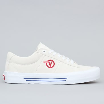 Vans Saddle Sid Pro Shoes Marshmallow / Racing Red
