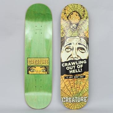 Creature 8.375 Horror Feature Medium Skateboard Deck Black / Yellow