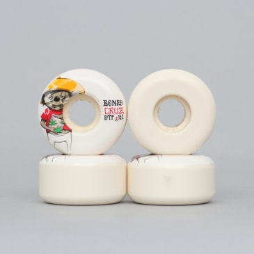 Bones 51mm STF Cruz Weedy V2 Wheels White