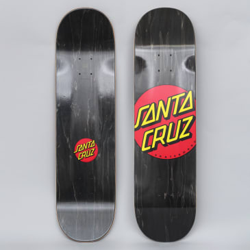 Santa Cruz 8.375 Classic Dot Wide Tip Skateboard Deck Black
