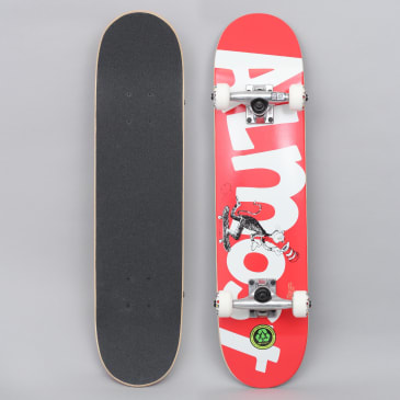 Almost 7 Cat Push Youth Complete Skateboard Red