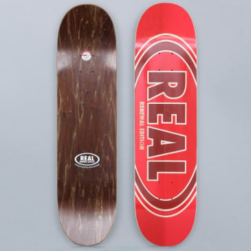 Real 8.06 Oval Duo Fades Skateboard Deck Red