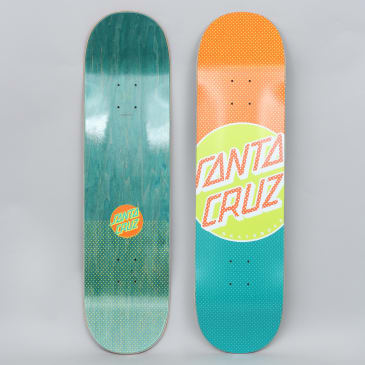 Santa Cruz 8.25 Process Dot Wide Tip Skateboard Deck Orange / Blue
