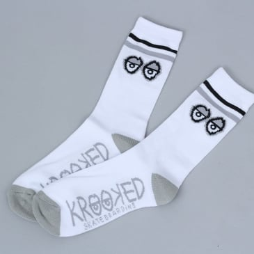 Krooked Big Eyes Socks White / Grey / Black