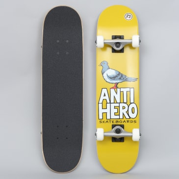 Anti Hero 7.3 Pigeon Hero Mini Complete Skateboard Mustard