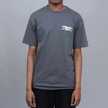 Anti Hero Stock Eagle T-Shirt Charcoal / White