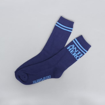 Anti Hero Blackhero If Found Socks Navy / Light Blue