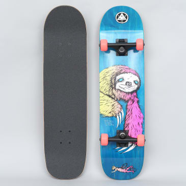 Welcome 8 Sloth On Bunyip Complete Skateboard Blue / Surf Fade