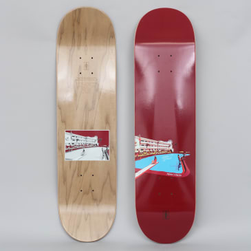 Girl 8.25 Sean Malto No Vacancy Skateboard Deck Burgundy