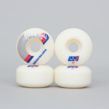 Wayward 50mm 101A Round Cut Diego Najera Finish Line Wheels White / Blue