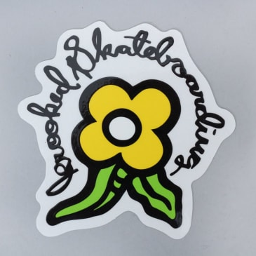 Krooked Bloom Sticker Yellow