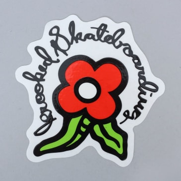 Krooked Bloom Sticker Red