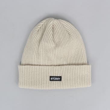 Stussy Small Patch Watch Cap Beanie Off White