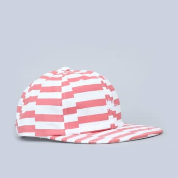 HUF Off Set Stripe 6 Panel Cap Salmon