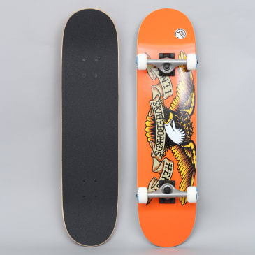 Anti Hero 7.75 Classic Eagle Medium Complete Skateboard Orange