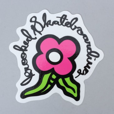 Krooked Bloom Sticker Pink