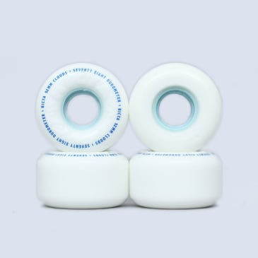 Ricta 52mm 78A Clouds Skateboard Wheels White / Blue