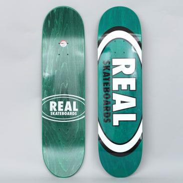 Real 8.125 Overspray Oval Skateboard Deck Green