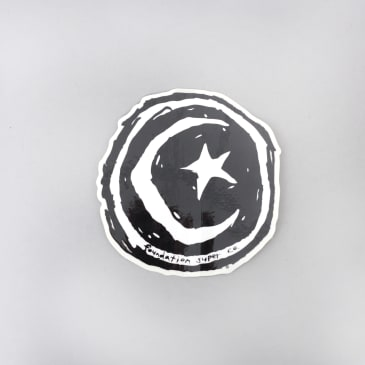 Foundation Star And Moon Sticker Black