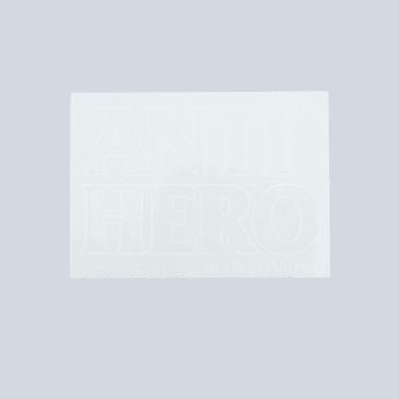 Anti Hero Black Hero Sticker White Outline