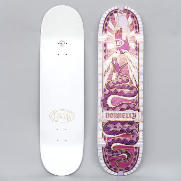 Real 8.38 Donnelly Cathedral II Skateboard Deck Purple / White Dipped