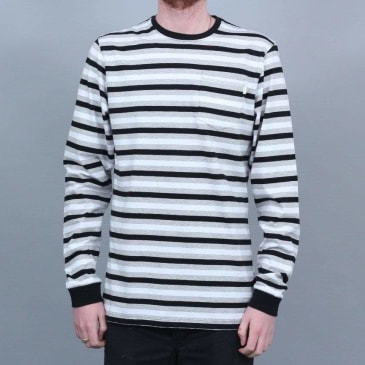 Civilist Striped pocket Longsleeve White / Black
