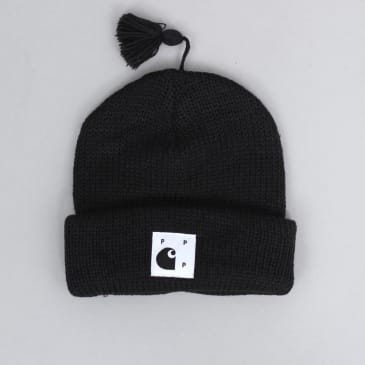 Pop Trading X Carhartt Watch Beanie Black