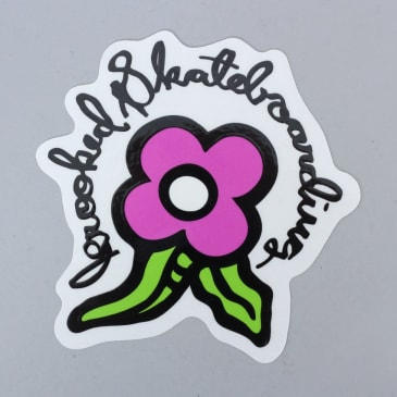 Krooked Bloom Sticker Purple