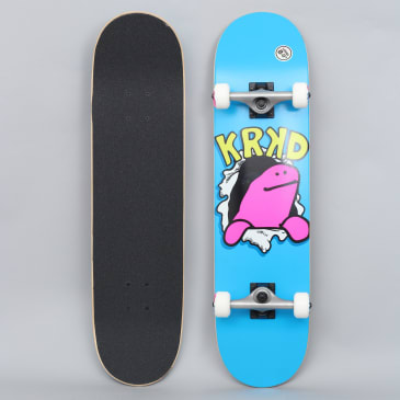Krooked 8 Shmooday Large Complete Skateboard Blue