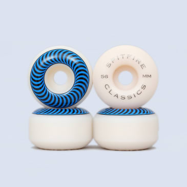 Spitfire 56mm Classic White Wheels