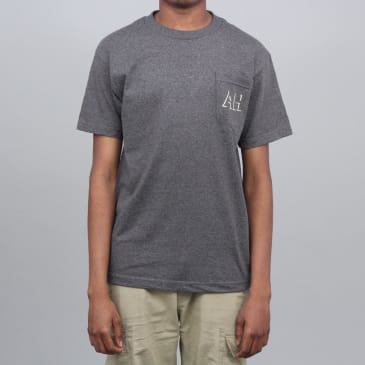 Anti Hero Drophero Pocket T-Shirt Charcoal Heather / Cream