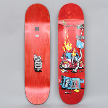Polar 8.25 Herrington Crash Skateboard Deck Red