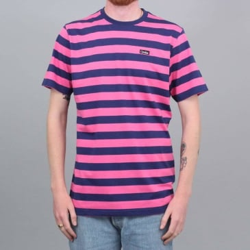 Civilist Stripe T-Shirt Magenta / Navy