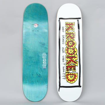 Krooked 8.25 Spiked Skateboard Deck White
