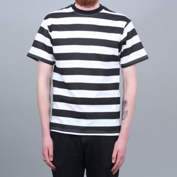 Independent Hazard Stripe T-Shirt Black / White
