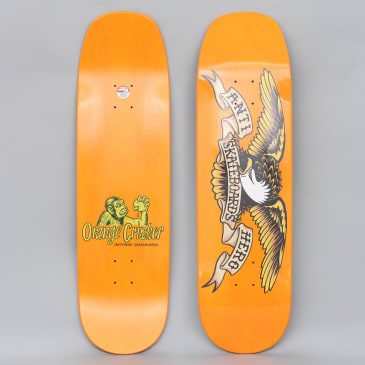 Anti Hero 9.1 Overspray Orange Crusher Skateboard Deck Orange