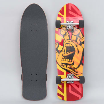 Santa Cruz 9.42 Screaming Hand Overlay 80's Complete Skateboard Orange