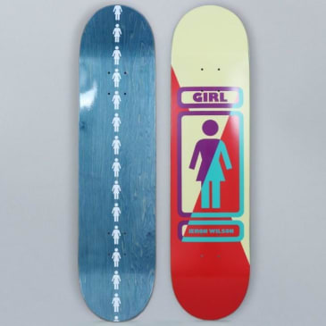Girl 7.875 Jeron Wilson 93 Til Skateboard Deck Yellow / Red