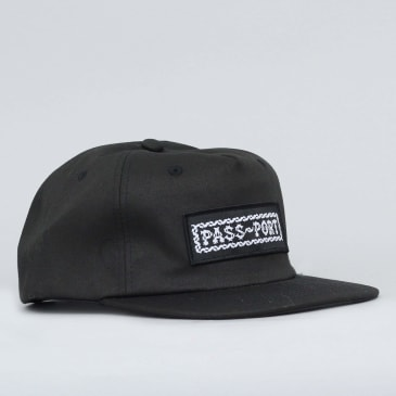 Passport Barbs 5 Panel Cap Black