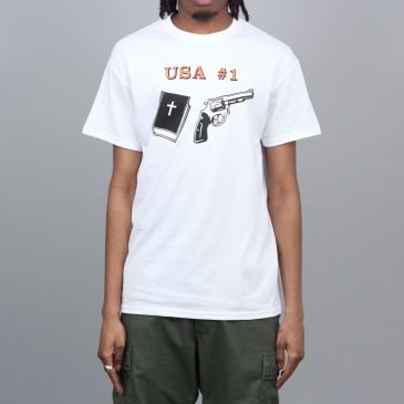 Dear Skating USA #1 T-Shirt White