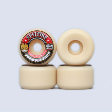 Spitfire 54mm 101DU Formula Four Conical Full Wheels Natural
