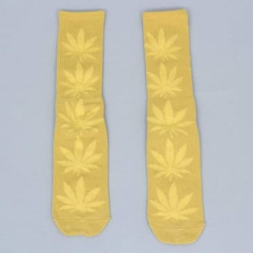 HUF Plantlife Crew Socks Honey Mustard