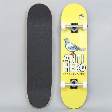 Anti Hero 7.75 Pigeon Hero Medium Complete Skateboard Yellow