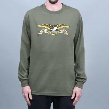 Anti Hero Eagle Longsleeve T-Shirt Military Green