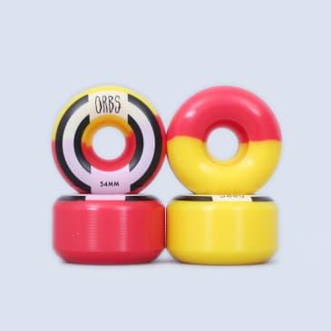 Welcome 54mm 99A Orbs Apparitions Wheels Red / Yellow