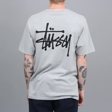 Stussy Basic Stussy T-Shirt Grey Heather / Black